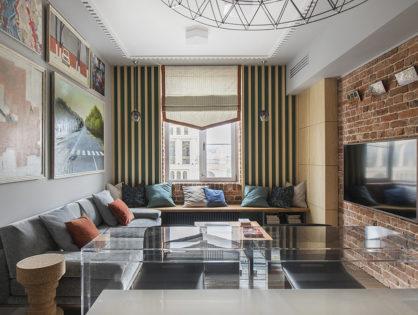 Эклектичная квартира 100 м² для большой семьи