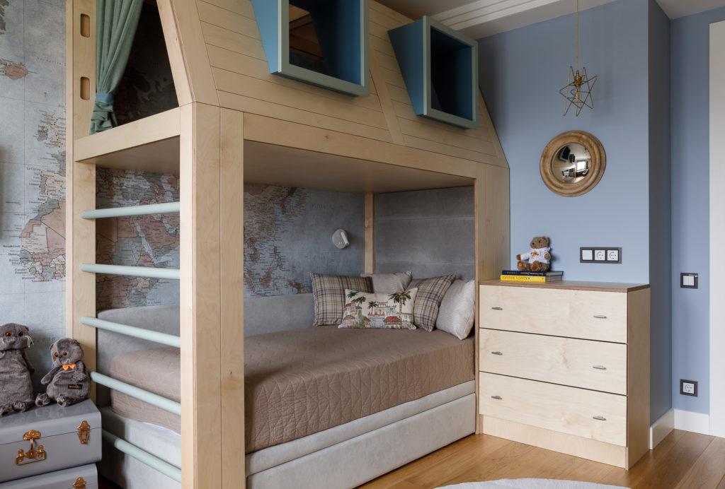 фото детская кроватка-чердак