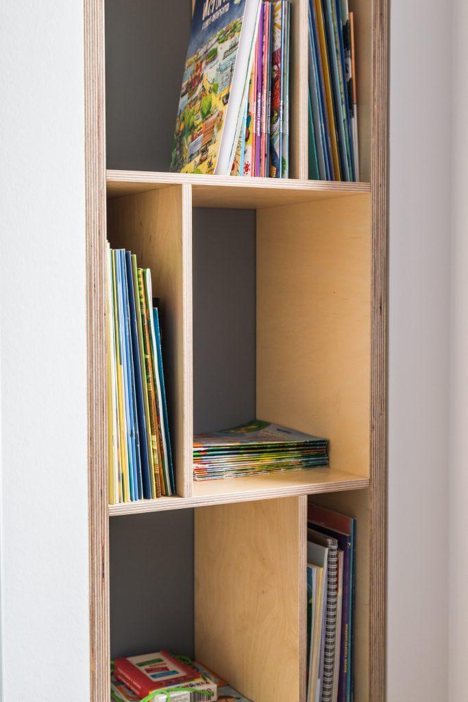 Книжный стеллаж для детской комнаты